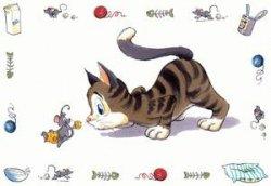 Trixie Napfunterlage, Comic-Katze, 44 × 28 cm