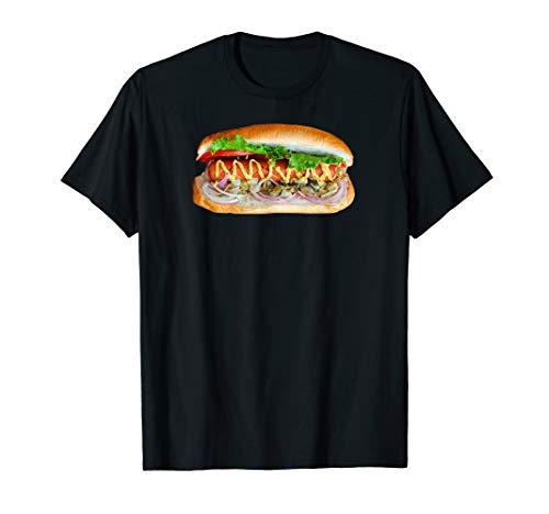 Sandwich Burger Fleisch Würstchen Fast Food Hot Dog Geschenk T-Shirt
