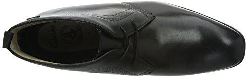 Clarks Gleeson Hi GTX Herren Kurzschaft Stiefel Schwarz (Black Leather)