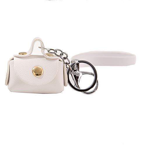 Faux-leder-lagerung (YSoutstripdu Schlüssel-Ketten-Handtasche Frauen Faux Leder Mini Pendant Earphone Lagerung Münzbestattung-Red/pink/Khaki/Blue/Black/weiß)