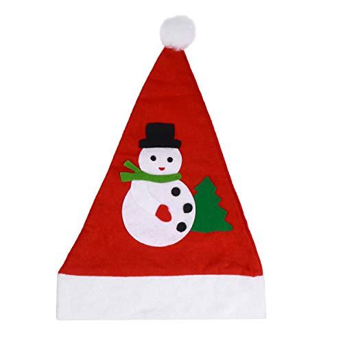 Muster Kostüm Weihnachtsmann Kinder - BESTOYARD 12 Stücke Filz Weihnachtsmütze Nikolausmütze Weihnachtshüte Weihnachtsschmuck Xmas Party Deko für Kinder Erwachsene Weihnachtsmann Kostüm (zufällige Muster)