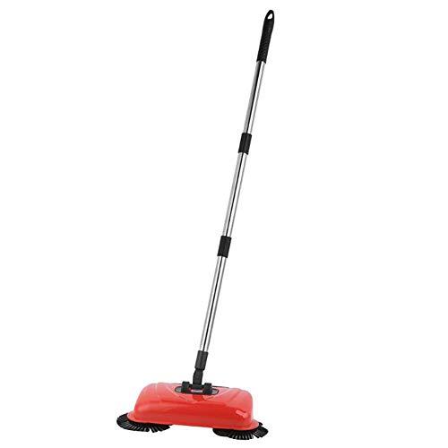 ZHEDAN Haushaltsreinigung Harter Boden Sweeper, Hand-Push-Automatische Kehrmaschine, Reinigung Ohne Strom Umwelt, Inklusive Broom & Dustpan & Mülleimer