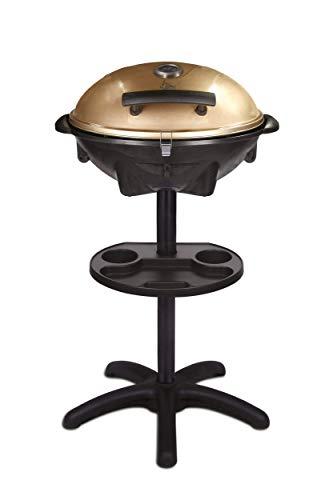 SUNTEC elektrischer Standgrill BBQ-9479 [Für Innen & Außen, auch als Tischgrill geeignet, inkl. Soßenhalter, regelbarer Thermostat, max. 1600 Watt]