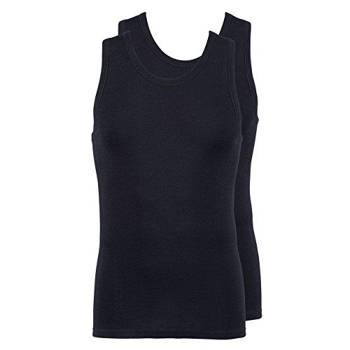 Jockey® Herren, Modern Classic A-Shirt 2er-Pack, 18502728 Schwarz