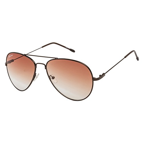Chevera Aviator Unisex Sunglasses (CHAT11N|54|Brown)