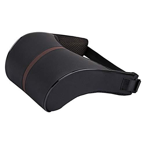 B Blesiya 1x Memory-Schaum Autositz Kopfstütze Kissen Für Rücken- und Nackenbereich, Mesh-Abdeckung - Schwarz -