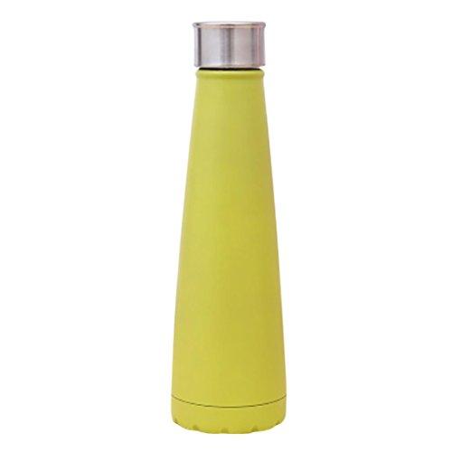 Gaddrt Modernes einfaches Vakuum Isolierte Flasche Doppeltes Edelstahl Stahl Thermos Cola Form (C)