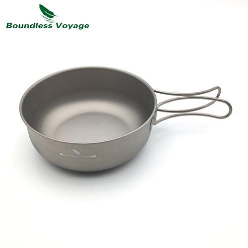 Outdoor Ultralight 80g Folding Titanium Bowl Cookware Picnic Camping pot (650ML )