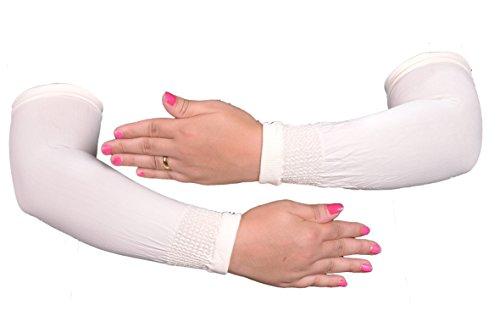 Egypt Bazar Elegante Armstulpen in verschiedenen Farben - Hijab - Islamische Gebetskleidung (Weiß)