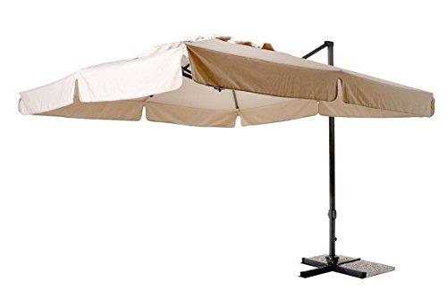 Yellowshop - ombrellone decentrato da giardino mt. 3x4 in alluminio richiudibile da esterno arredo piscina, gazebo, terrazze, bar, hotel, balconi
