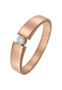 CHRIST Diamonds Damen-Ring 585er Weißgold 1 Diamant ca. 0,10 ct. roségold, 60...