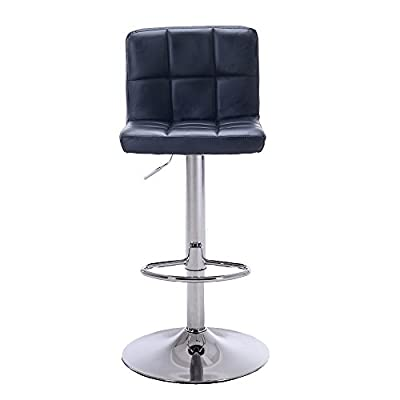 Hollylife 2x Leather Bar Stools Kitchen Bar Stools Adjustable Height 57 to 75 cm produced by hollylife - quick delivery from UK.