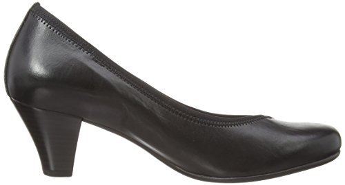 Gabor Freda L, Court shoes donna Nero (Black Leather)