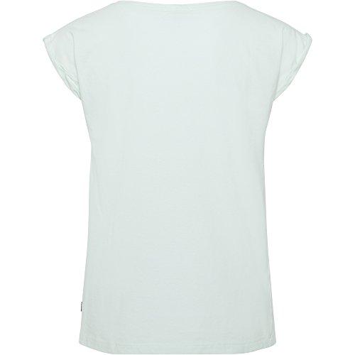 Chiemsee Donna umge schlagenen polsini maglietta 715 Bleached Aqua