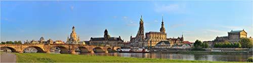 Bis 3 Meter Breite! XXXL Panorama Leinwandbild, Dresden der Canaletto Blick, Exklusives Fineart Bild als Wanddeko und Wandbild in Galerie Qualität auf Canvas© Künstler Leinwand