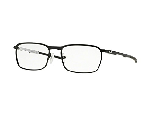 Oakley Rx Eyewear Für Mann Ox3186 Conductor Satin Black / White Metallgestell Brillen, 52mm