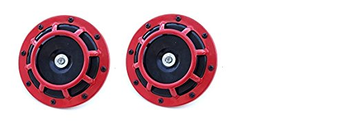 a-pair-of-new-red-car-horns-twin-tone-low-and-high-tone-12v-for-for-subaru-impreza-wrx-evo