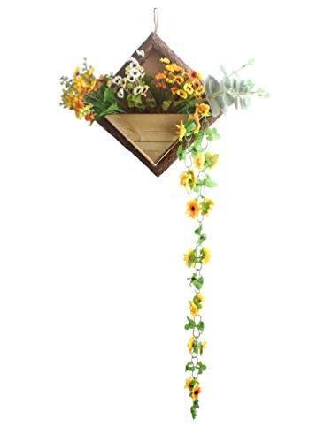 Liqidécor contenitore fiore vasi di fiori giardino fioriera da appendere alla parete in legno legno ornamentali cestini da appendere a parete per vasi da fiori home decor flower basket