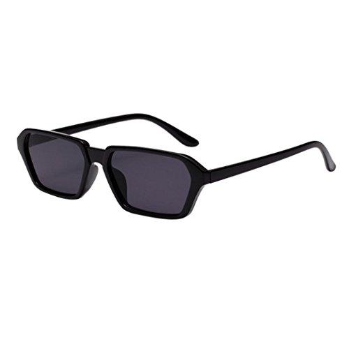 Zolimx occhiali, occhiali,occhiali da sole donna, uomo occhiali da sole,vintage donne uomo quadrato cornice occhiali da sole integrato occhiali uv (nero)