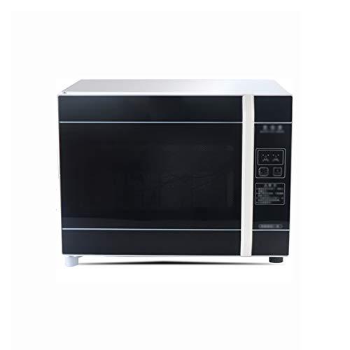 MXRqndqa Wärmegeräte Haushalt Mini desinfektionsschrank schwarz 30L Desktop einzelne tür Tee-Geschirr Geschirr Edelstahl hochtemperatur trockenabfluss Schrank (größe: 420X335X320mm) (Farbe : SCHWARZ)