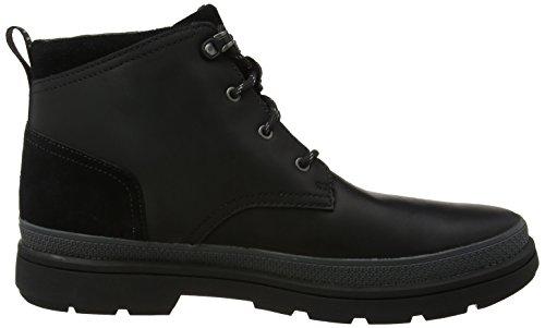Clarks Mens Rushwaymid Gtx Classic Boots Nero (pelle Nera)