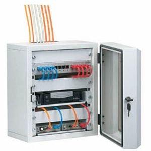 SCENetwork 10' Mini-Rack Netzwerkgehäuse bzw. Mini Netzwerkschrank für die kleine Netzwerkinstallation, 7 Höheneinheiten, 300mm Breit, 245mm Tief,