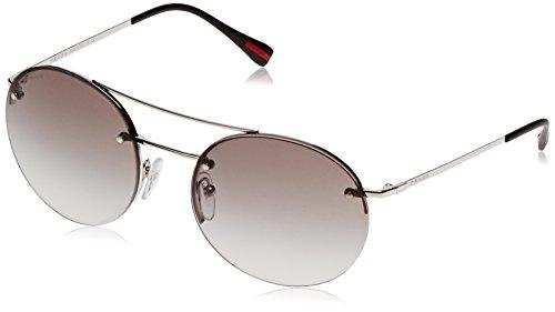 Prada Linea Rossa Sonnenbrille 0PS 54RS Silver, 56