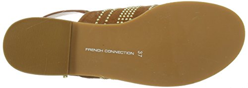 French Connection Happy, Sandales femme Marron - Marron (clair)