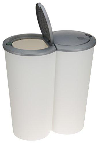 Formschöner Doppel Abfalleimer DUO BIN 50 L Mülleimer