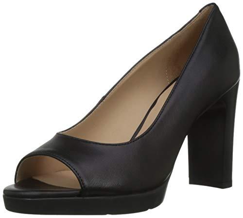 Geox D ANNYA High Sandal D, Scarpe col Tacco Punta Aperta Donna, Nero (Black C9999), 41 EU