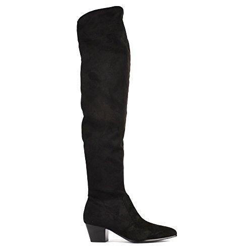 Ash Footwear Hero Black Suede Knee High Boot 36EU/3UK Black