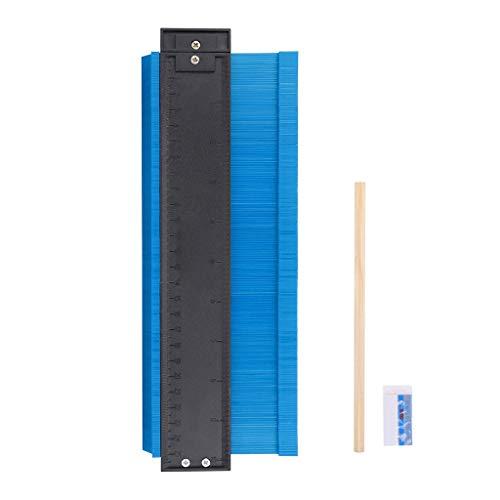 Luccase 10'' Konturlehre ABS Blau Profilmessgerät Profil Messwerkzeug Form Kontur Unregelmäßiges Profil Lineal Kunststofflehre für Duplikator Maßstab