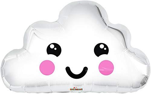 Ballonim® Wolke mit Gesicht Luftballon ca. 51 cm Luftballons Folienballon Party Baby Shower 1. Geburtstag