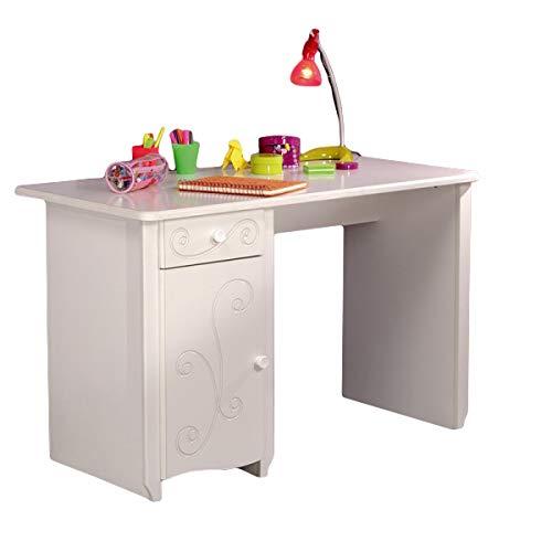 Schreibtisch weiß B 120 cm MDF Holz Kinderzimmer Jugendzimmer PC Computertisch Kinderschreibtisch Mädchenschreibtisch
