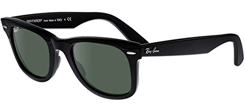 Ray-Ban - ORIGINAL WAYFARER RB 2140, Wayfarer, Acetat, Herrenbrillen, BLACK/CRYSTAL GREY GREEN POLARIZED(901/58), 54/18/150