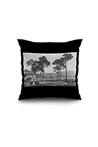 Pebble Beach, California - Golf Course Coast View - Vintage
