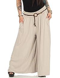 ZARMEXX Pantalone da Donna Pantalone Marleen Pantalone Pantalone Largo per  Uomo d Affari e per 0e5342516aab