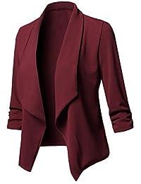 Chaquetas Mujer Manga Larga De Solapa Slim Fit Blazer Primavera Elegantes Otoño  Casual Modernas Casual Fashion Oficina Negocios… 01101d7c22be