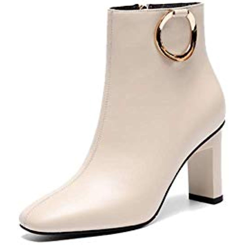 fa1304b8e7839 ZPEDY Chaussures pour Femmes, Style Européen, Fermeture à - Glissière,  Bottillons, Tête