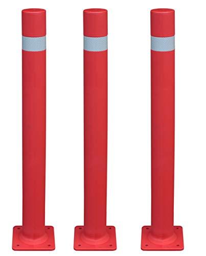 Set mit 3 Billardkugeln, flexibel, hohe Festigkeit und Flexibilität, A-flex, Durchmesser 80 cm, Rot mit Platte zum Anschrauben