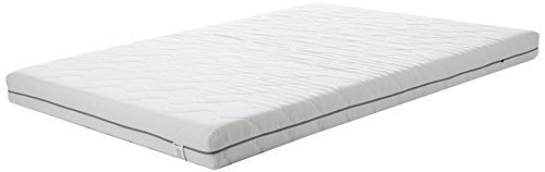 AmazonBasics Extra Comfort 7-zone PU-Foam Mattress with hypoallergenic cover, Double