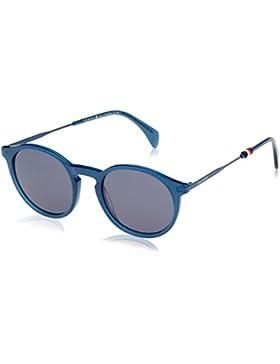 Tommy Hilfiger Unisex-Erwachsene Sonnenbrille TH 1471/S KU, Schwarz (Blue), 50