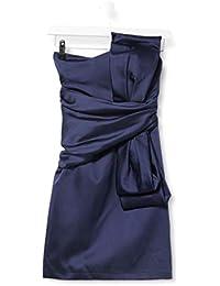 Amazon Brand - TRUTH & FABLE Women's Mini Satin Off-shoulder Dress