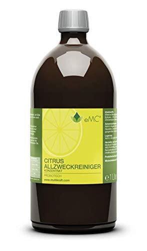 EMC Citrusreiniger Probiotisch Zitrone Konzentrat, 1 Liter - Extrem ergiebig! -