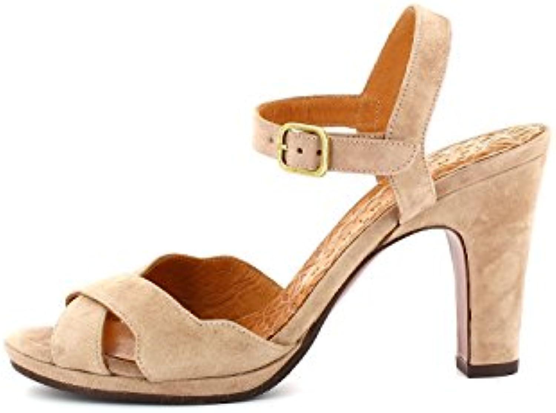 Zapatos de Mujer PU Primavera Sandalias de Verano Heel Fino Heel Open Toe Hebilla de Cadena para Fiesta y Noche Zapatos de Mujer Zapatos (Color : Rojo, Tamaño : 36) 36|Rojo