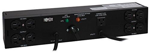 Tripp Lite Hot-Swap PDU, 20A, 8 Outlets (4-5-15R, 4-5-15/20R), 120V, 2 5-20P, 10 ft. & 6 ft. Cords, 2U Rack-Mount Power (PDUB20) - Power-amp-rack