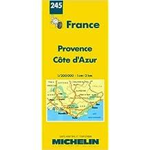 Carte routière : Provence - Côte d'Azur, N° 245 (Anglais) de Cartes REGIONAL Michelin ( 8 avril 2003 )