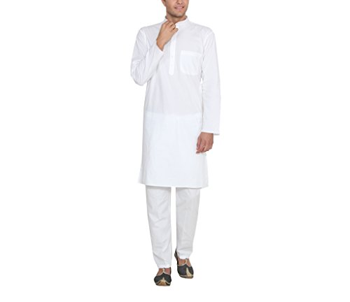 Jainish Kurta Pyjama Set For Men's  available at amazon for Rs.349