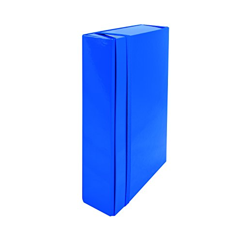 Trasparente Blu Fellowes 40130 Cartellina con Elastico Incrociato