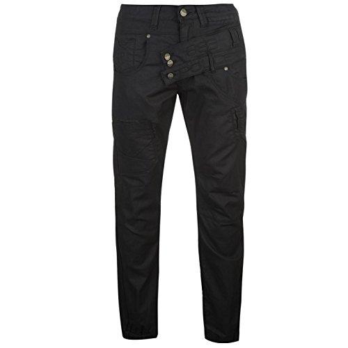 883-police-hombre-lancia-cuffed-hombre-vaqueros-pantalones-vestir-casual-negro-34-l32